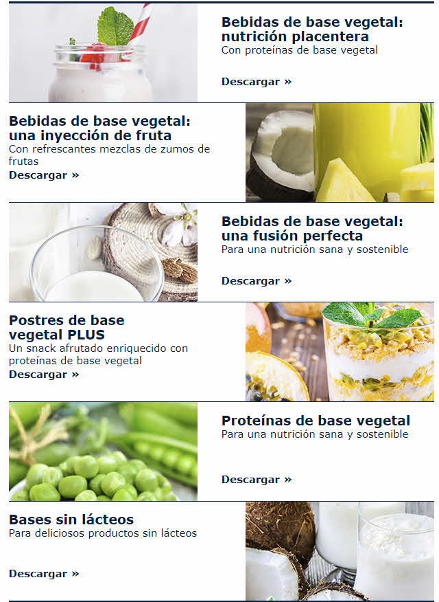 ingredientes vegetales